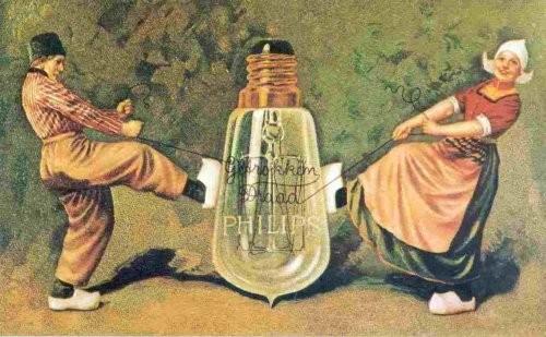 Publicidad holandesa de lámparas