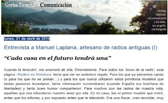 Radios en miniatura en el blog de Gorka Zumeta