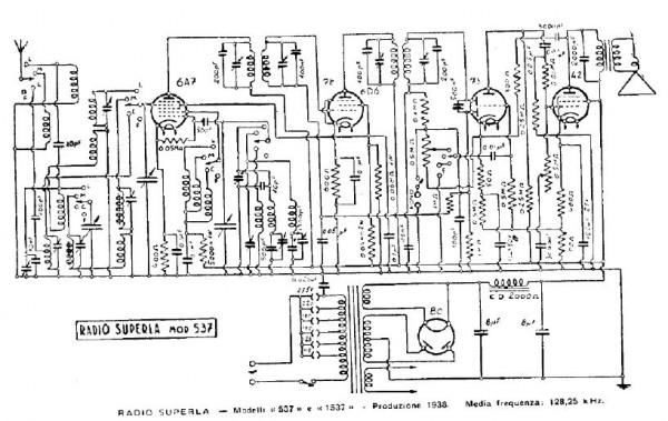 esquema La radio Superla 537