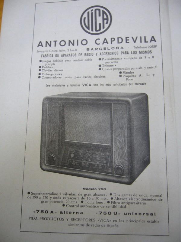 Publicidad de Radio Vica