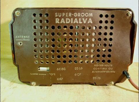 Radio Radialva Super gromm Parte trasera