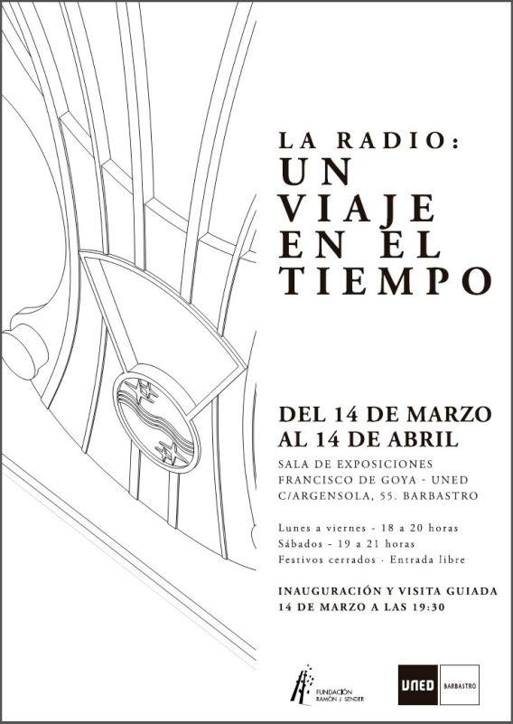 Cartel exposición La radio: Un viaje en el tiempo
