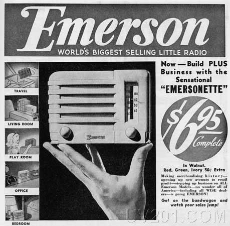 Cartel publicidad Emersonette