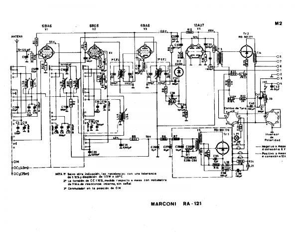 Esquema auto radio Marconi RA- 121