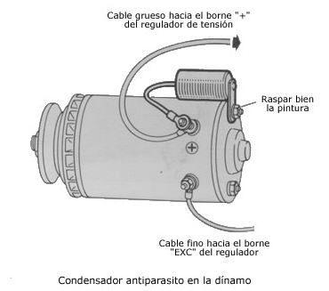 condensador antiparasitario dinamo coche