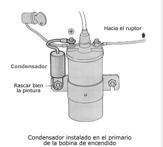 Condensador antiparasitario bobina coche